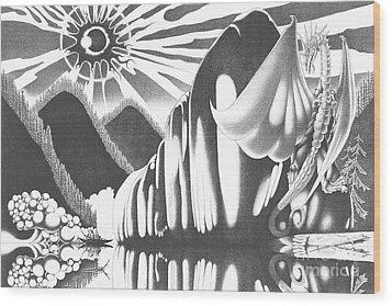 Eyes Of The Beholder Wood Print by Devaron Jeffery