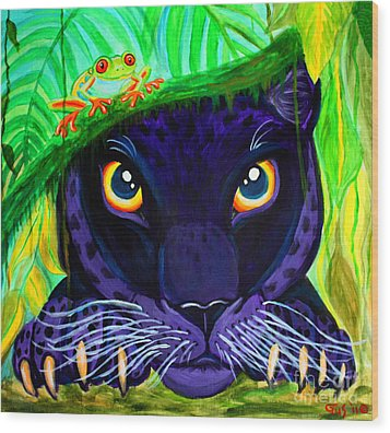 Eyes Of The Rainforest Wood Print by Nick Gustafson