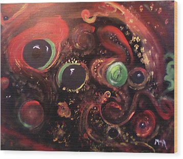 Eyes Of The Universe # 5 Wood Print by Michelle Audas