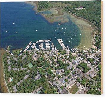 F-001 Fish Creek And Harbor Door County Wisconsin Wood Print