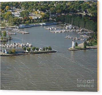 F-003 Fond Du Lac Wisconsin Harbor Wood Print