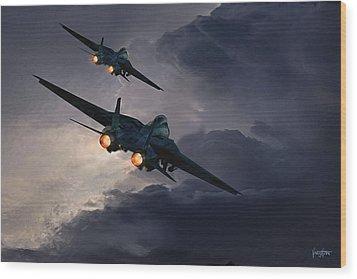 F-14 Flying Iron Wood Print