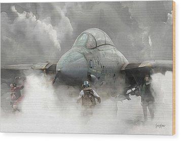 F-14 Smokin' Hot Wood Print