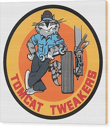 F-14 Tomcat Tweakers Wood Print