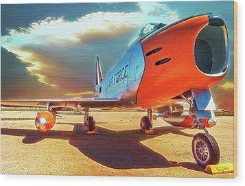F-86 Sabre Jet Wood Print
