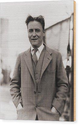 F. Scott Fitzgerald, 1896-1940 In 1928 Wood Print by Everett