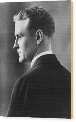 F. Scott Fitzgerald Circa 1925 Wood Print by David Lee Guss