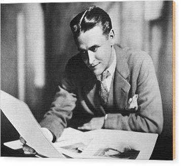 F. Scott Fitzgerald In The Late 1920,s Wood Print by Everett