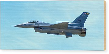F16 Wood Print by Greg Fortier