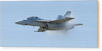 F18 - Barrier Wood Print by Greg Fortier