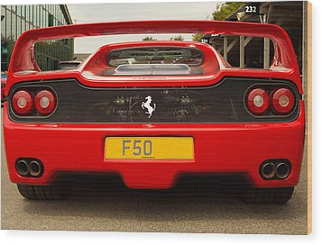 F50 Tail Wood Print