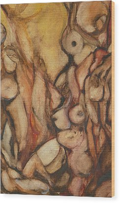 Fa Human Forest  Wood Print by Thierry-guenand   DAUGENN-