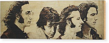Fab Four Wood Print by Michael Garbe