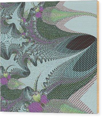Fabric Sample Wood Print by Thomas Smith