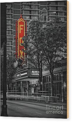 Fabulous Fox Theater Wood Print by Doug Sturgess