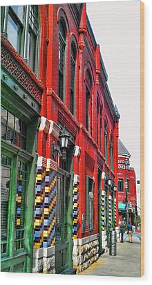 Facade Of Color Wood Print
