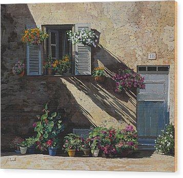 Facciata In Ombra Wood Print by Guido Borelli
