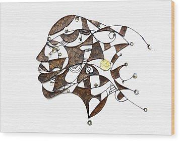 Face It  Wood Print by Ronex Ahimbisibwe