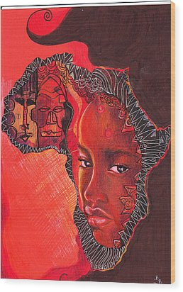 Face Of Africa Wood Print