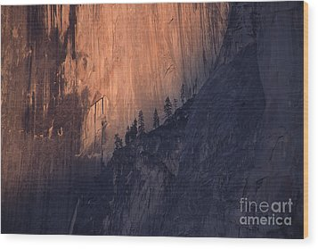 Face Of Half Dome Wood Print by Stan and Anne Foster