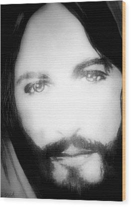 Face Of Jesus Wood Print