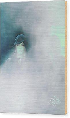 Face Wood Print by Viktor Savchenko