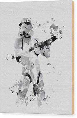 Faceless Enforcer Wood Print