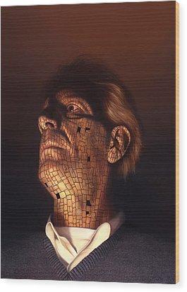 Faceplate Wood Print by Philip Straub
