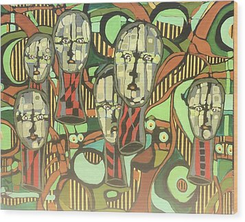 Faces #22 Wood Print