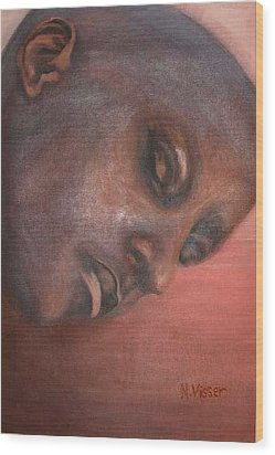 Faces Of Africa 1 Wood Print by Nellie Visser