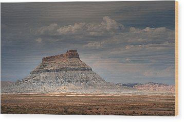 Wood Print featuring the photograph Factory Butte by Dan Mihai