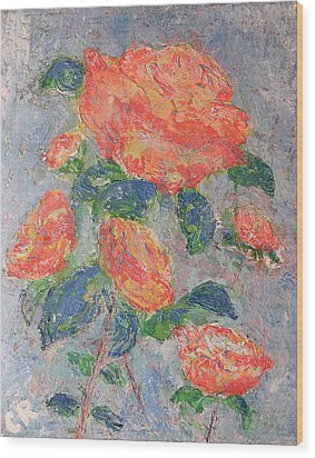 Faded Roses Wood Print by Chris Rice