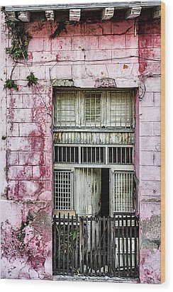 Faded Rouge Wood Print by Dawn Currie