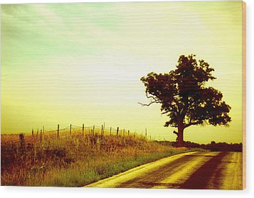 Faded Sky Wood Print by Jame Hayes