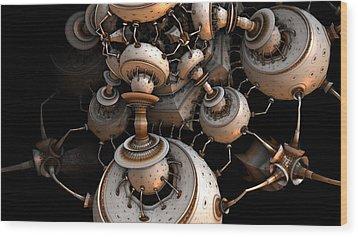 Fading To Dark Wood Print