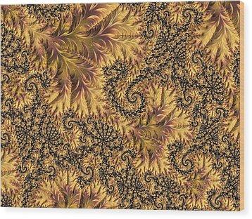 Faerie Forest Floor II Wood Print by Susan Maxwell Schmidt