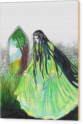 Faerie Queen Wood Print by Rebecca Tripp