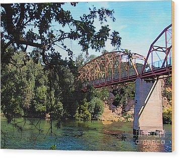 Fair Oaks Bridge Wood Print by Anthony Forster