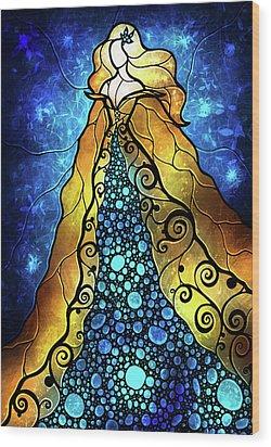Fair Ophelia Wood Print by Mandie Manzano