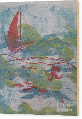 Fair Winds Calm Seas Wood Print