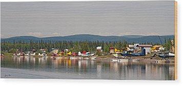 Fairbanks Float Pond  Wood Print