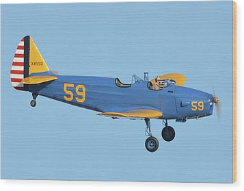 Fairchild Pt-19a N11cm Chino California April 29 2016 Wood Print by Brian Lockett