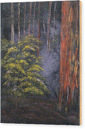Fairies Wood Print by Helene Lagoudakis