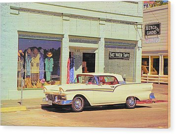 Fairlane 500 1957 Wood Print by John Schneider