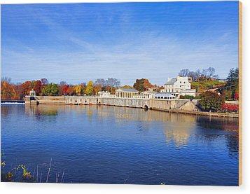 Fairmount Water Works - Philadelphia Wood Print by Bill Cannon
