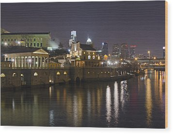 Fairmount Water Works - Philadelphia  Wood Print by Brendan Reals