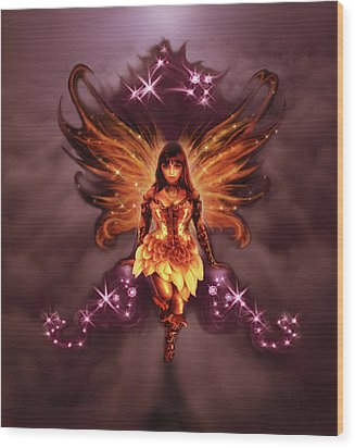 Fairy Angel Wood Print by Rick Ritchie