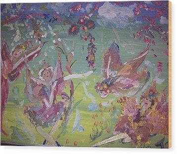 Fairy Ballet Wood Print by Judith Desrosiers