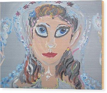Fairy Bride Wood Print by Judith Desrosiers