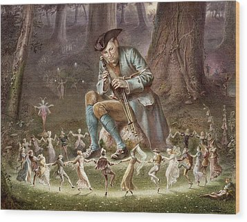 Fairy Dance Wood Print by William Holmes Sullivan